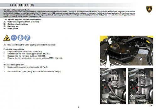 Lamborghini Gallardo Coupe LP560-1(L714) ремонт и эксплуатация