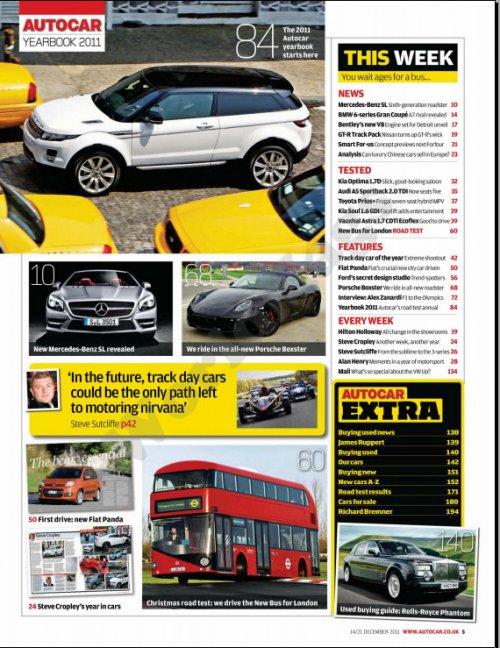 Autocar - 14 Декабрь 2011 (UK)