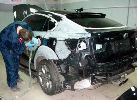 Перекраска машины, этапы работ
