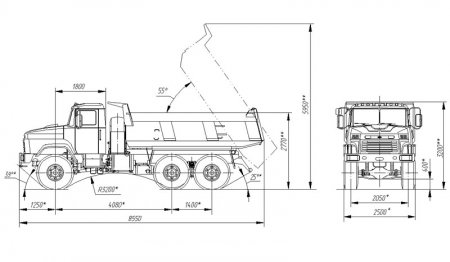 Схема КрАЗ-65032-0000070-02