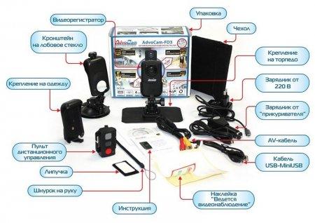 Что может входить в комплектацию видеорегистратора