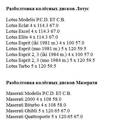 Лотус, Мазерати