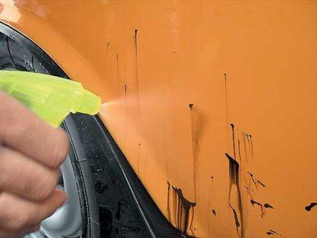 Удаление битума с кузова автомобиля