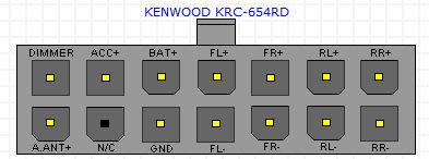 KENWOOD KRC-654RD