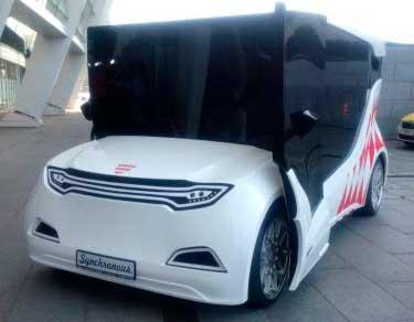 В Монако был представлен первый электромобиль из Украины - прототип Synchronous